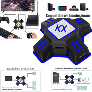 Adapter Converter USB For Xbox One PS4 NS Controller To Mouse & Keyboard FPS