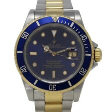 Rolex Submariner Date 16613 Automatic Date Steel Gold Blue Dial 40mm Serial X