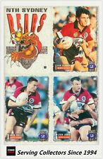 1995 Dynamic Rugby League Series 2 Base Card Team Set North Sydney Bears (9)