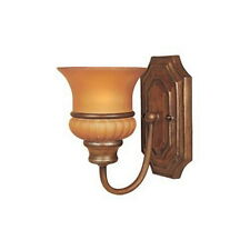 Bavarian Bronze And sienna Mist Glass Wall Sconce