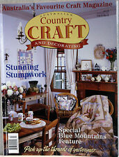 Australian Country CRAFTS & Decorating Magazine Vol 9/3 Stunning Stumpwork(F320)