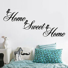 "New ""Home Sweet Home"" Wall Quote Sticker Wall Decals Mural Art Lounge"