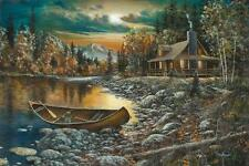 "Jim Hansel High Country Retreat Canvas Giclee Signed And Numbered  24"" x 16"""
