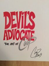 SIGNED - The Art Of Coop Devil's Advocate  Hardcover + Photo
