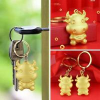 Golden Color New Year of the Ox Keychain x 1 G1L9