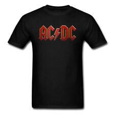 NEW AC/DC Logo Men's T-Shirt Hard Rock and Roll Music Men Shirt 100% Cotton