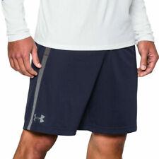 Under Armour UA HeatGear Tech Mesh Mens Navy Blue Sports Training Shorts L