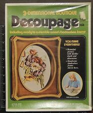 Multi-Floral Decoupage 3-Dimensional Boutique wood Shadow Box vintage arts kit