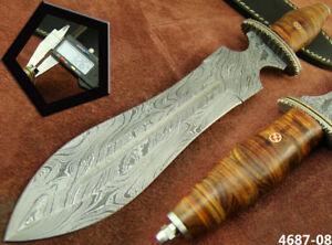 "ALISTAR XL 14"" HANDMADE DAMASCUS STEEL DOUBLE EDGE HUNTING DAGGER KNIFE (4687-8h"