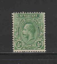 ST. VINCENT #118  1921  1/2p  KING GEORGE V   MINT VF HR O.G