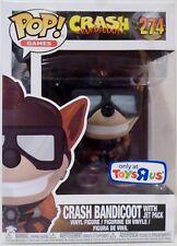 "Crash Bandicoot (Jet Pack) Pop Games 4"" Vinyl Figure #274 Tru Toys R Us 2017"