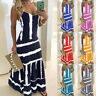 Womens Tie-Dye Beach Pullover Maxi CAMI Sundress Ladies Loose Long Slip Dress