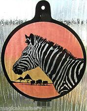 WINDOW SUNCATCHER ZEBRA AFRICA SAFARI STAINED GLASS EFFECT WICCA PAGAN ANIMAL