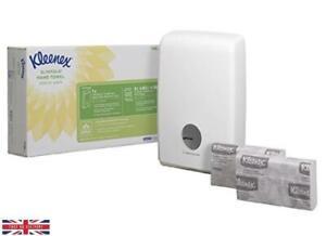 KLEENEX Airflex Slimfold Hand Towel Dispenser Starter Pack Plus Refill