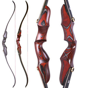 """58"""" ILF Recurve Bow Wooden Riser Limbs Takedown 20-50lbs Archery Hunting Bow"""