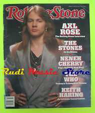 ROLLING STONE USA MAGAZINE 558/1989 Axl Rose Stones Nene Cherry K.Haring No cd