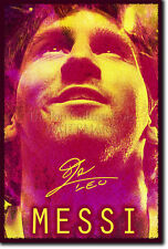 Lionel Messi Fotoprint Fußball Poster Geschenk