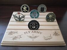 Military Challenge Coin Holder/Display 8x10, Fly Army