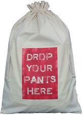 Eliminare le PANTS qui-Design Rosso-Cotone Naturale Borsa per bucato / Storage Sack
