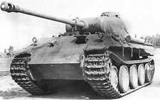 B&W WW2 Photo German Panther Tank Frontal Pzkpfw. V WWII Wehrmacht World War Two