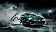 "FORD MUSTANG CUSTOM GRAPHICS LARGE HD WALL POSTER PRINT 42"" x  24"""