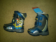 NWT $44 TODDLER BOYS TOY STORY 3 BUZZ AND WOODY BOOTS SIZE 5 VERY NICE AND WARM!