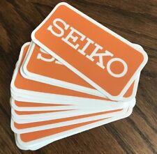 """SEIKO Sticker - Orange Vintage Watch Decal with Border - Weatherproof!  4""""x2"""""""