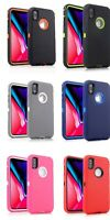 2x For iPhone 6S 7 Plus XS Max XR Case Hybrid Heavy Duty Shockproof Rubber Cover