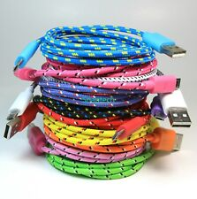 3 6 10FT Braided Micro USB Fast Charger Data Sync Cable Cord For Samsung Android