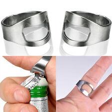 1Pcs Silver New Stainless Steel Finger Ring Bottle Opener Beer Bar Open Tool