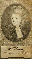 Porträt der Prinzessin Wilhelmine von Preußen (1709-1758), Punktiermanier