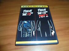 Friday the 13th 1/Part Two (DVD, 2007,Widescreen) 2 Used Thirteenth