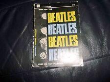 "1964  ""HERE ARE THE BEATLES BEATLES BEATLES BEATLES"" 100 NEW PICS PAPERBACK BOOK"
