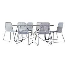 Set di tavoli e sedie da esterno grigia