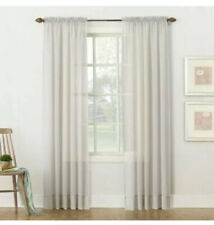 """2 Rod Pocket Curtain Panel, No. 918 Emily Sheer Voile, Silver Gray, 59""""x84"""""""