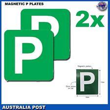 2 PCs Magnetic Green P Plate Victoria WA PPlates