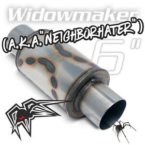 "Black Widow ""Neighborhater"" Widowmaker 6"" Exhaust Muffler - 3.5"" Connections"