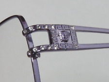 GORGEOUS VERSACE Made In Italy Authentic Eye Glasses Lavender Crystal Bling