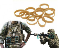 12x Navy Seals Airsoft Paintball Elastic Rubber Bands Gummiband - Dark Earth