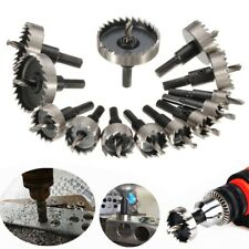 13PCs 16-30mm HSS Drill Bit Hole Saw Set Cutter For Steel Metal Alloy Wood Kit