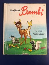 "Vintage A Little Golden Book Walt Disney's ""Bambi"" #D90"