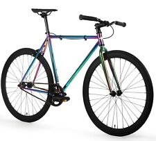 Golden Cycles Fixed Gear Single Speed Bike Bicycle Oil Slick 41 CM To 63 CM NEW