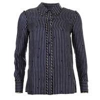 DVF DIANE VON FURSTENBERG Shirt Blue Stripe Size US 4 / UK 8 RRP £249 BG 133
