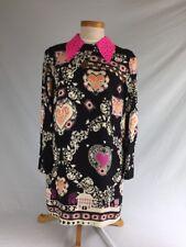 MSGM Women's Collared Multi-Pattern Size 46 Dress
