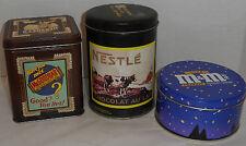 1988 Nestle Tin, Hershey Mr. Good Bar Canister - Aero Tin, 1988 M&M Candy Tin