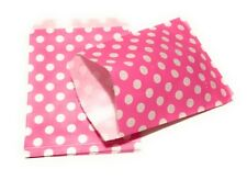 10 Polka Dot Paper Party Bags - Treat Sweet Favour Gift Goody Bag - 11 Colours