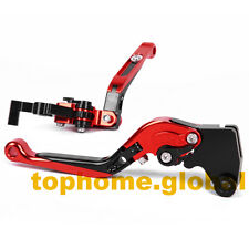 For Bajaj Pulsar 200 NS Folding Extending Clutch Brake Levers Adjustable Red