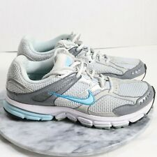 Nike Women's Zoom Structure Triax+ Running Shoes Silver Blue Size 8