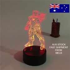 3D LED night Light Remote &Touch control. Iron Man LED table Desk Lamp  Gift!!!