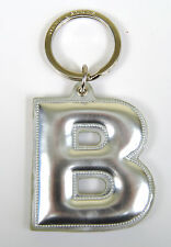 Marc by Marc Jacobs Alphabet Letter Initial Key Ring Chain Charm Holder Silver B